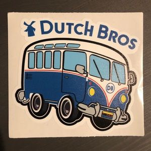 Dutch Bros - Sticker Decal - VW Bus Peace